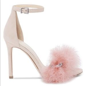 NWOB Jessica Simpson Suede pink Feather Sandal